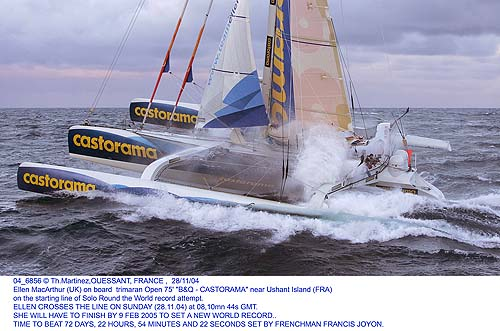 ELLEN MACARTHUR START -NOV 2004